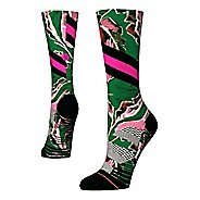 Womens Stance TRAINING Varsity Floral Crew Socks - Green M