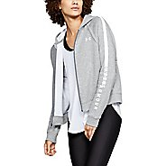 Womens Under Armour Rival Fleece Half-Zips & Hoodies Technical Tops