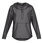 Womens Under Armour Storm Iridescent Woven PO Half-Zips & Hoodies Technical Tops