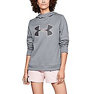Womens Under Armour Synthetic Fleece PO BL Q4 Half-Zips & Hoodies Technical Tops