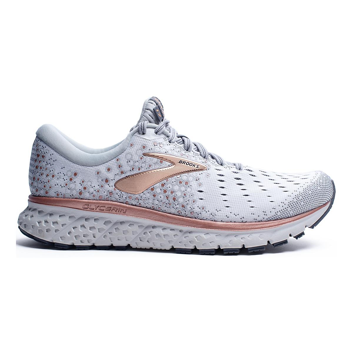 c5e526f31cf9d Womens Brooks Glycerin 17 Metallic Running Shoe at Road Runner Sports