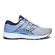 Womens Saucony Omni ISO Running Shoe - Silver/Blue/Navy 7.5