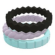 Womens Qalo Melody Silicone Stackable Ring Set Fitness Equipment
