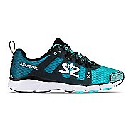 Womens Salming EnRoute 2 Running Shoe - Aruba Blue/Black 8.5