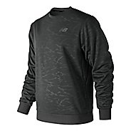 Mens New Balance NB Corefleece Crew Long Sleeve Technical Tops