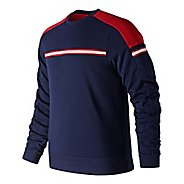Mens New Balance NB Athletics Crew Long Sleeve Technical Tops
