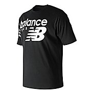 Mens New Balance NB Athletics Crossover Tee Short Sleeve Technical Tops