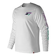 Mens New Balance Essentials 90s Tee Long Sleeve Technical Tops