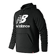 Mens New Balance Essentials Stacked Logo Pullover Half-Zips & Hoodies Technical Tops