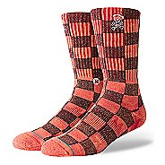 Mens Stance Santarchy Crew Socks - Red L
