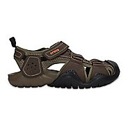 Mens Croc Swiftwater Leather Fisherman Sandals Shoe