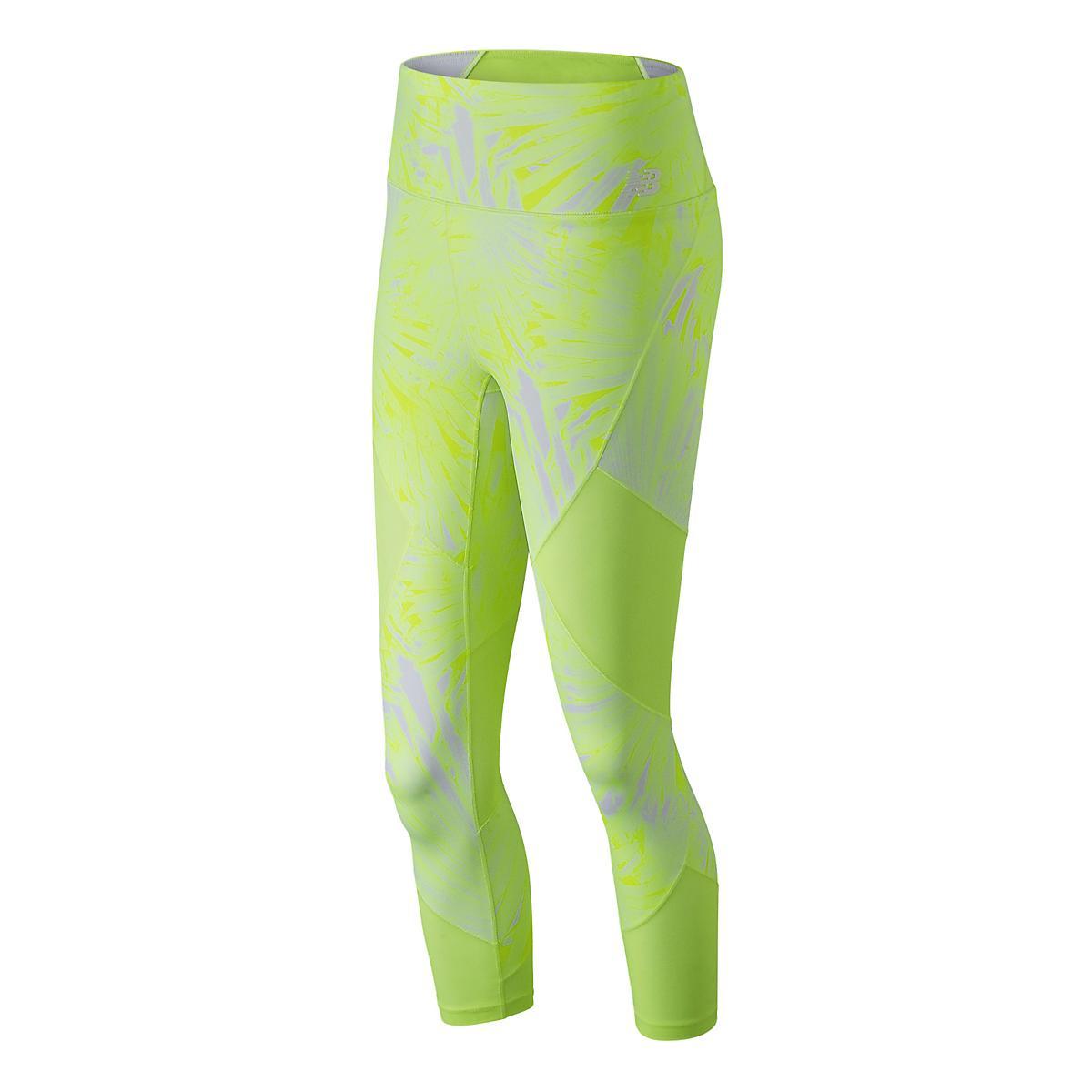c1cb31d4f2ecd Womens New Balance Printed Feel The Cool Crop Pants at Road Runner Sports