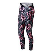 Womens New Balance Printed Color Block Accelerate 2.0 Tights & Leggings Pants
