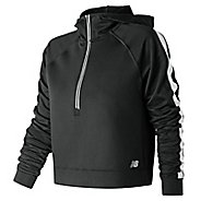 Womens New Balance Anticipate Crop Pullover Half-Zips & Hoodies Technical Tops