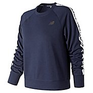 Womens New Balance NB Warmup Crew Long Sleeve Technical Tops