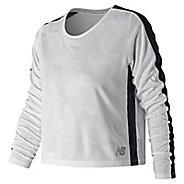 Womens New Balance Q Speed Breathe Long Sleeve Technical Tops