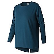 Womens New Balance Studio Relaxed Long Sleeve Technical Tops