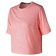 Womens New Balance Well Being Cropped Tee Short Sleeve Technical Tops