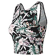 Womens New Balance Printed Evolve Crop Sleeveless & Tank Technical Tops