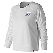Womens New Balance Essentials 90s Crew Long Sleeve Technical Tops