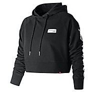 Womens New Balance Essentials Cropped Classic Half-Zips & Hoodies Technical Tops