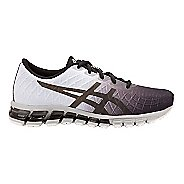 Womens ASICS GEL-Quantum 180 4 Running Shoe - Black/White 7.5