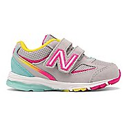 Kids New Balance 888v2 Velcro Running Shoe - Grey/Rainbow 3C