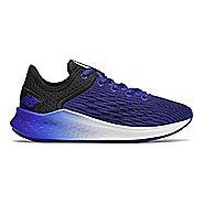 Kids New Balance Fresh Foam Fast Lace Up Running Shoe - Black/UV Blue 6Y