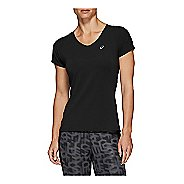 Womens ASICS V-Neck Short Sleeve Technical Tops