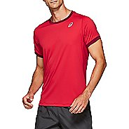 Mens ASICS Club Short Sleeve Technical Tops