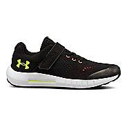 Kids Under Armour Pursuit AC Running Shoe - Black/White 11C