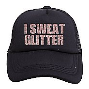 Womens Tiny Trucker I Sweat Glitter Hat Headwear