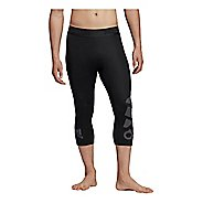 Mens Adidas Alphaskin Badge of Sport 3/4 Capris Tights
