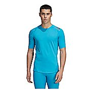 Mens Adidas Alphaskin Sport Badge of Sport Tee Short Sleeve Technical Tops