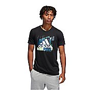Mens Adidas Badge of Sport Layer Tee Short Sleeve Technical Tops