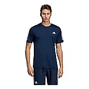 Mens Adidas Club 3-Stripe Tee Short Sleeve Technical Tops