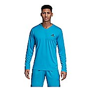 Mens Adidas Club Long Sleeve UV Protect Tee Long Sleeve Technical Tops