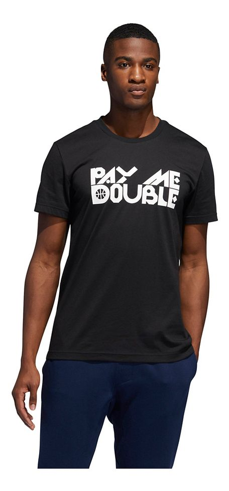858f90ce257 Mens Adidas Pay Me Double Graphic Tee Short Sleeve Technical Tops at Road  Runner Sports