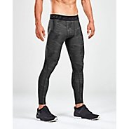 Mens 2XU Accelerate Print Compression Tights & Leggings
