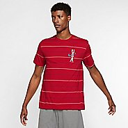 Mens Nike Red, White & Blue Printed Short Sleeve Technical Tops