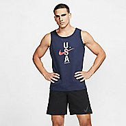 Mens Nike Red, White & Blue Sleeveless & Tank Technical Tops