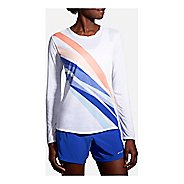 Womens Brooks Distance Long Sleeve Technical Tops