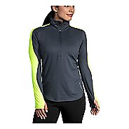 Womens Brooks Nightlife Half-Zips & Hoodies Technical Tops