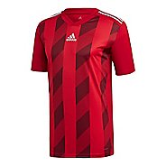 Mens Adidas Striped 19 Jersey Short Sleeve Technical Tops