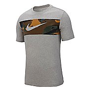 Mens Nike Dry Camo Block Tee Short Sleeve Technical Tops