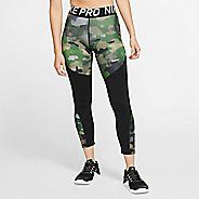 Womens Nike Pro Rebel 7/8 Camo Crop Tights