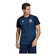 Mens Adidas USA Volleyball Replica Tee Short Sleeve Technical Tops