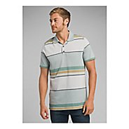 Mens Prana Dominic Polo Short Sleeve Technical Tops