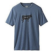 Mens Prana Holy Cow T-Shirt Short Sleeve Technical Tops