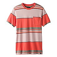 Mens Prana Dominic Crew Short Sleeve Technical Tops